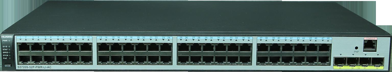 SWITCH HUAWEI S5720-LI, 48P GB POE+ 370W, 4 UPLINK SFP