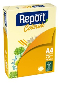 PAPEL REPORT COLORS AMARILLO A4 75 GRS 500 HJS