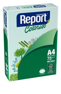 PAPEL REPORT COLORS VERDE A4 75 GRS 500 HJS
