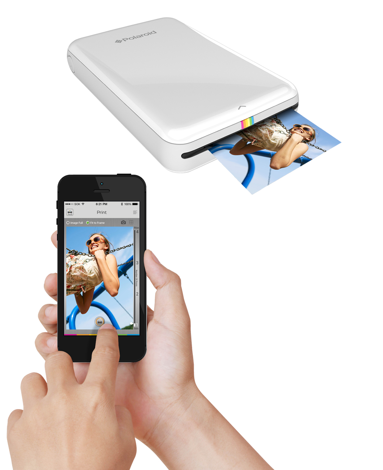 IMPRESORA POLAROID ZIP MOBILE PRINTER BLANCO
